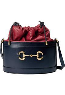 Gucci Bolsa Bucket Gucci 1955 Com Detalhe Horsebit - Azul
