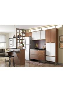 Cozinha Compacta Multimóveis Calábria 5464.680.131.680 Nogueira Branco Se