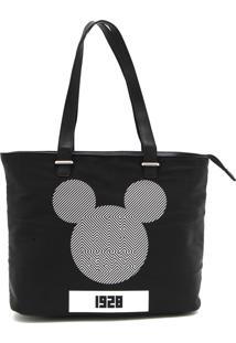 Bolsa Mickey Mouse Linhas Preta