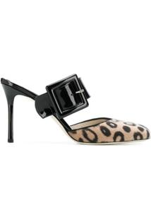 Francesca Bellavita Scarpin Animal Print - Neutro