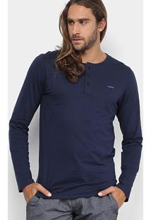 Camiseta Colcci Manga Longa Botões Masculina - Masculino