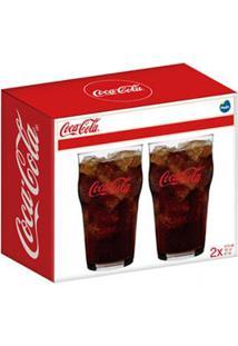 Conjunto De Copos Stout Coca-Cola Em Vidro Sodacal 473 Ml Com 02 Peças - Nadir Figueredo
