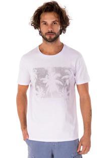 Camiseta Side Walk Camiseta Coqueiro Branco