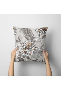 Capa De Almofada Avulsa Decorativa Flor Abstrata 45X45Cm