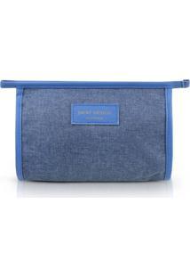 Necessaire Envelope Jacki Design Be You Azul - Azul - Dafiti