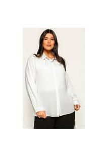 Camisa Ampla Almaria Plus Size Garage Básica Branco