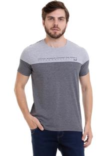 Camiseta Hifen Bicolor Cinza/Mescla