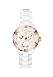 5603572d0cb ... Relógio Gc Feminino Cerâmica Branca - X69003L1S