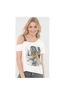 Camiseta Enfim Laço Off-White