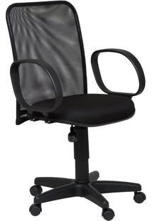 Cadeira Diretor Tela Giratória Corsa Tecido Preto