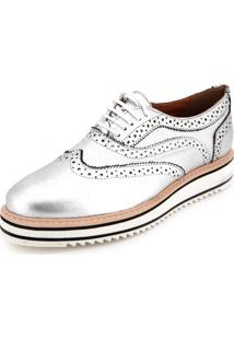 Oxford Santa Lolla Wingtip Prata