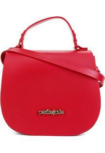 Bolsa Petite Jolie Flap Saddke Bag Feminina - Feminino-Vermelho