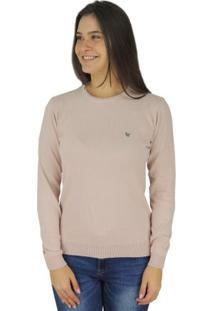 Suéter Feminino Tricô Premium Brooklyn Golaonda - Feminino-Rosa Claro
