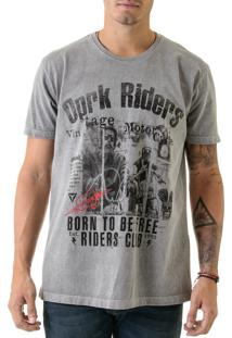 Camiseta Opera Rock Estonada Oprk Riders Chumbo