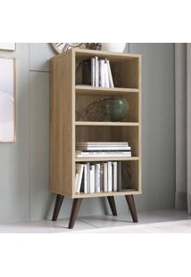Estante Para Livros 3 Prateleiras Est100 Oak - Completa Móveis