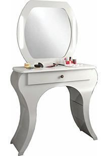 Penteadeira Com Espelho Tw131 1 Gaveta Off White - Dalla Costa