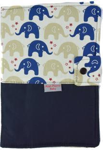 Capa Para Cartão De Vacinação - Alan Pierre Baby - Passinho Do Elefantinho Azul