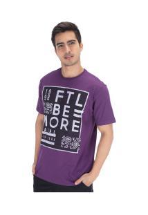 Camiseta Fatal Estampada 20249 - Masculina - Roxo Escuro
