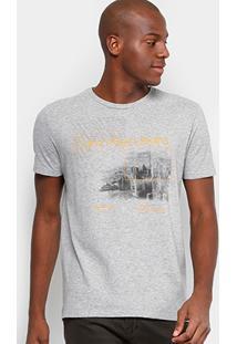Camiseta Slim Calvin Klein Estampada Masculina - Masculino