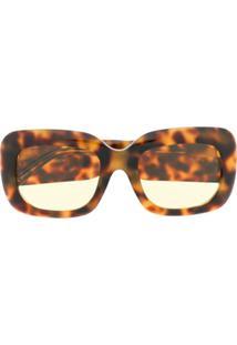 Linda Farrow Óculos De Sol Tartaruga - Marrom