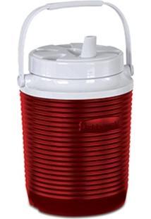 Garrafa Térmica 3,8 Litros Rubbermaid Victory Com Alça Vermelho