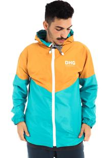 Jaqueta Corta Vento Dhg Company Orange Blue Premium
