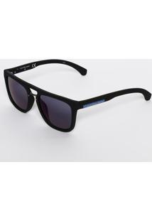 Óculos De Sol Quadrado Ckj801S 001 - Azul & Preto - Calvin Klein