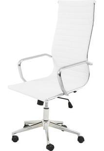 Cadeira Sevilha Eames Alta Pu Branco Base Cromada - 6752 - Sun House