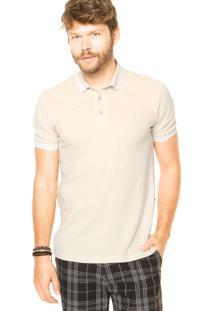 Camisa Polo Forum Linhas Bege