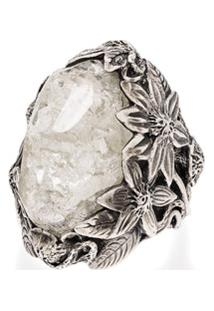 Lyly Erlandsson Anel De Prata Com Cristais - Silver