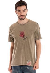 Camiseta Básica Manga Curta 98420 Verde Musgo