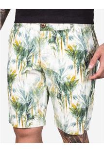 Bermuda Hermoso Compadre Palms Masculina - Masculino-Branco