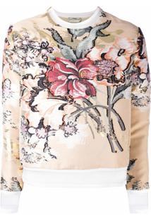Fendi Blusa Floral - Neutro