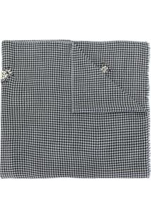 Janavi India Cachecol De Lã Merino Com Aplicações - Preto