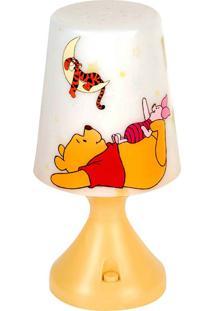 Abajur Led Turma Do Pooh Startec Branco/Amarelo