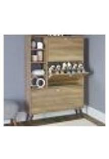 Sapateira Multiuso 03 Portas 03 Prateleiras Sp040 Oak Completa Moveis