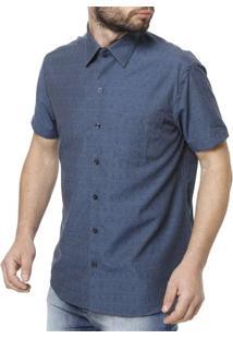 Camisa Manga Curta Masculina Azul Marinho