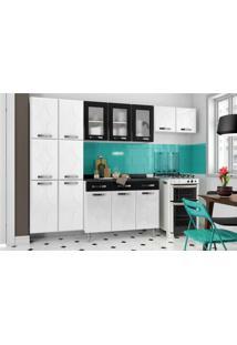 Cozinha Telasul Rubiaço 4 Peças Coz102 Branco/Preto