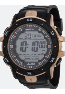 Kit Relógio Masculino Speedo 11016G0Evnp2K Digital 10Atm + Pochete