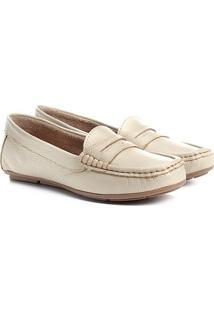 Mocassim Couro Shoestock Color Feminino - Feminino