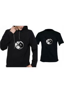Moletom + Camiseta Triztam Preto 307