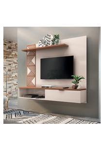 Painel Bancada Suspensa P/ Tv Até 50 Pol Grid Hb Móveis 1 Porta
