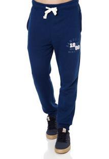 Calça Moletom Masculina Gangster Azul