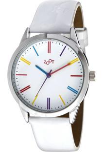 ba8b418d1ae ... Relógio Casual Zoot Rainbow Branco Zw10061-B