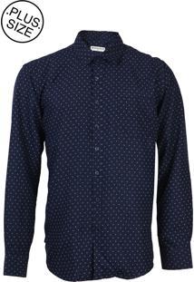 Camisa Broken Rules Full Print Azul-Marinho