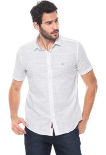 Camisa Aramis Slim Padronagem Branca/Azul-Marinho