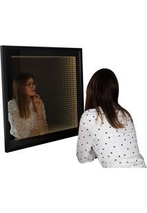 Espelho Decorativo Infinito 70X70 Cm Preto