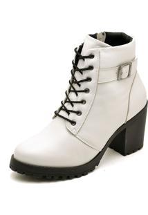 Bota Cut Out Boot Q&A Verniz 18000 Branco