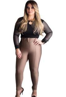 Calça A Favorita Skinny Com Cinto Feminina - Feminino