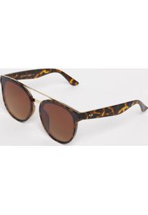 Óculos De Sol Arredondado- Laranja & Marrom- Les Bailes Bains Paris